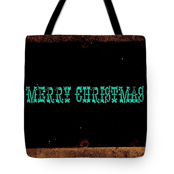Blue Christmas Tote Bag by Chris Berry