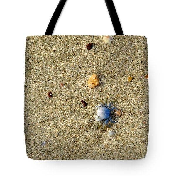 Blue Crab Tote Bag by Leana De Villiers