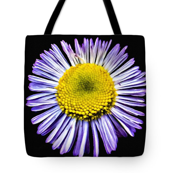 Blue Daisy Painting Tote Bag by Bob and Nadine Johnston