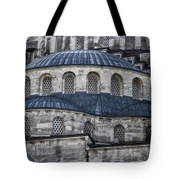 Blue Dawn Blue Mosque Tote Bag by Joan Carroll