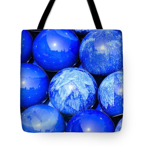 Blue Decorative Gems Tote Bag by Toppart Sweden