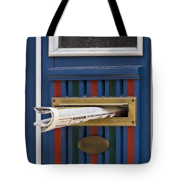 Blue Door Tote Bag by Heiko Koehrer-Wagner