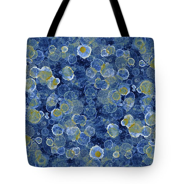 Blue Drip Tote Bag by Frank Tschakert