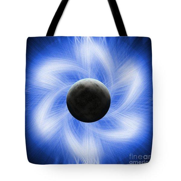 Blue Eclipse Tote Bag by Antony McAulay