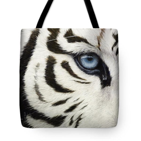 Blue Eye Tote Bag by Lucie Bilodeau