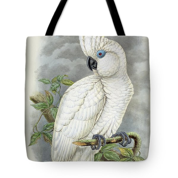 Blue-eyed Cockatoo Tote Bag by William Hart