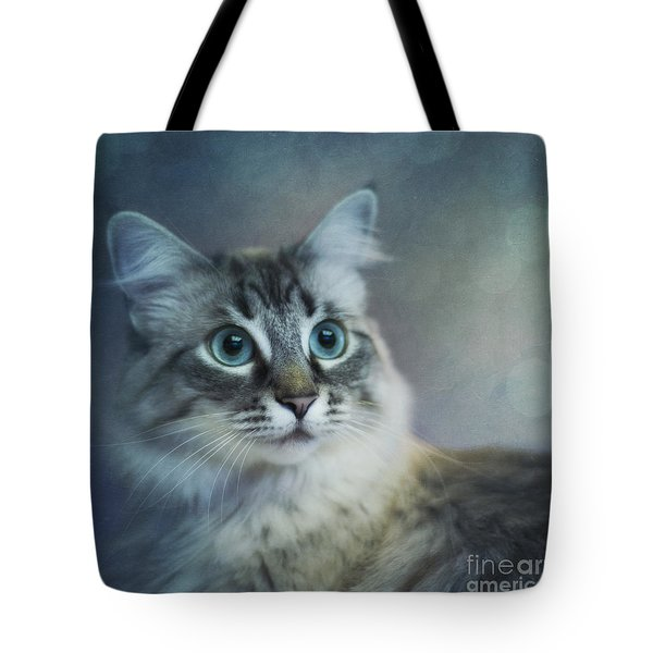 Blue Eyed Queen Tote Bag by Priska Wettstein