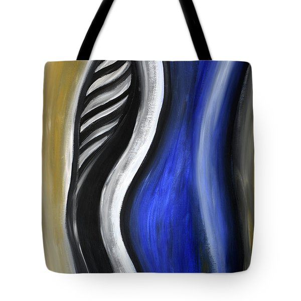 Blue Figure Tote Bag by Eva-Maria Becker