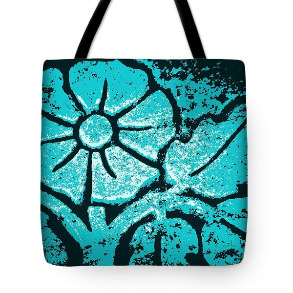 Blue Flower Tote Bag by Chris Berry