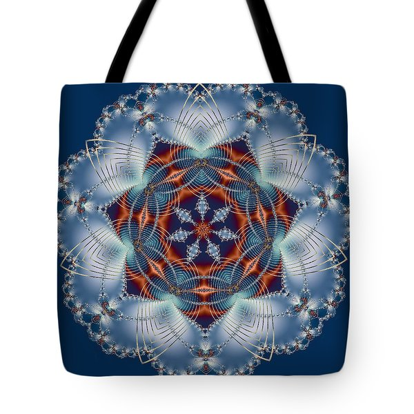 Blue Flower Tote Bag by Lena Photo Art