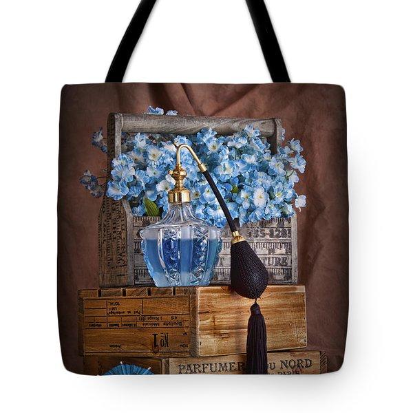 Blue Flower Still Life Tote Bag by Tom Mc Nemar