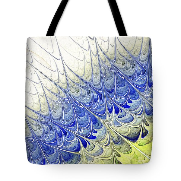 Blue Folium Tote Bag by Anastasiya Malakhova