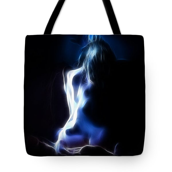 Blue Form 4022 Tote Bag by Timothy Bischoff