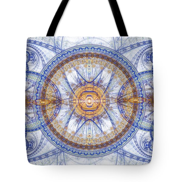 Blue Fractal inception  Tote Bag by Martin Capek