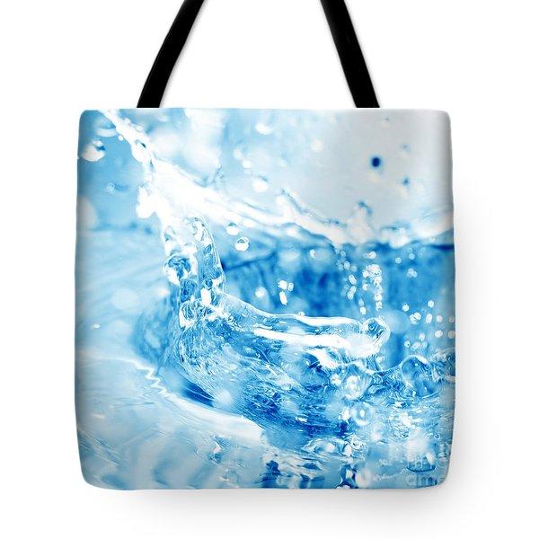 Blue Fresh Water  Tote Bag by Michal Bednarek