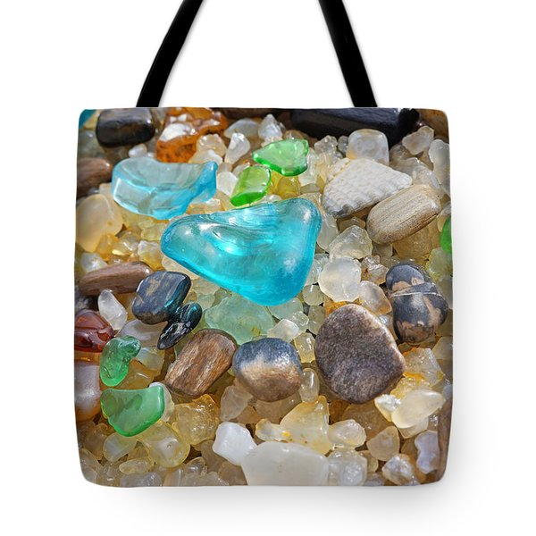 Blue Green Seaglass Coastal Beach Baslee Troutman Tote Bag by Baslee Troutman