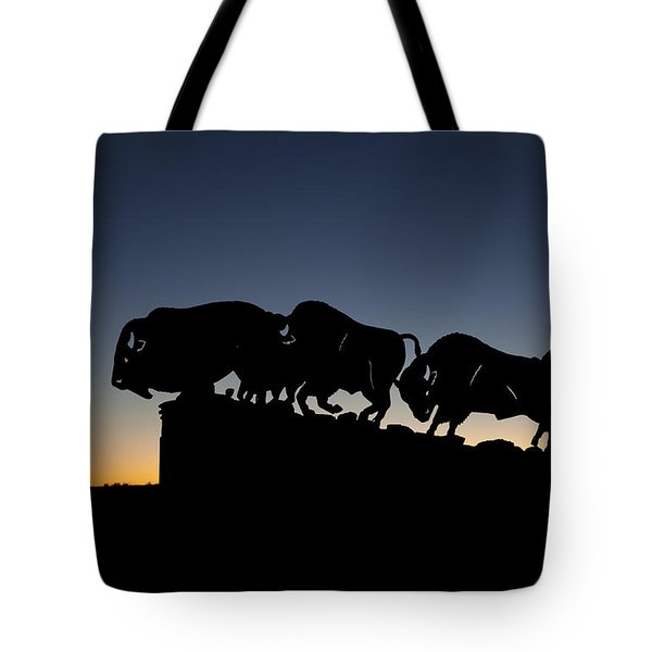 Blue Hour At Caprock Canyons State Park Tote Bag by Melany Sarafis