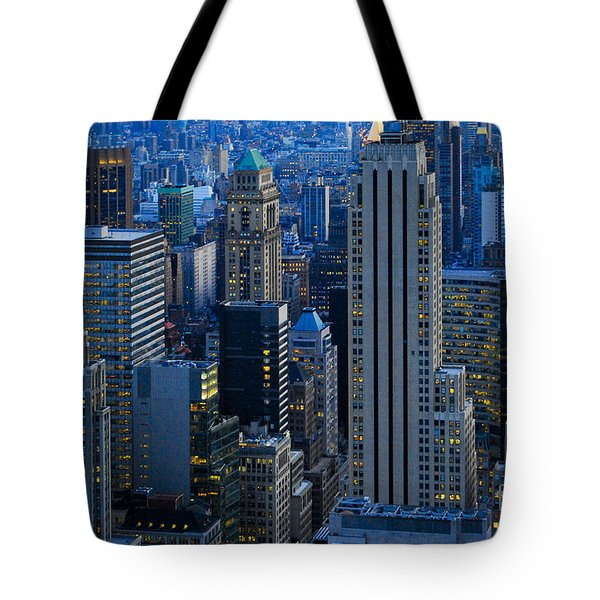 Blue Hour In New York City Usa Tote Bag by Sabine Jacobs