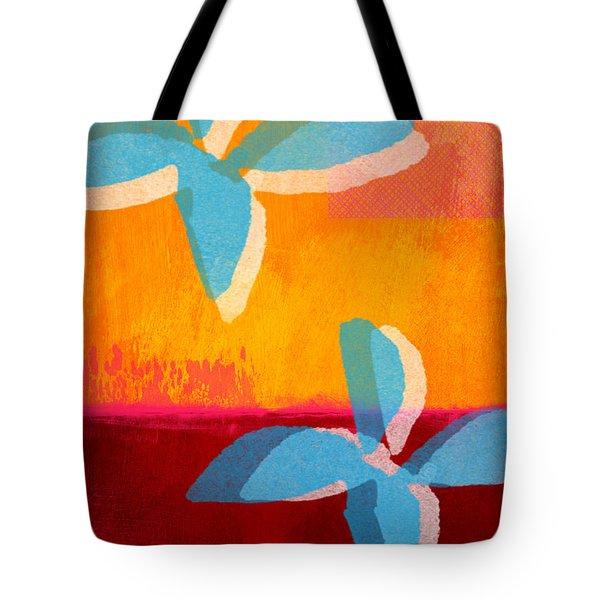 Blue Jasmine Tote Bag by Linda Woods