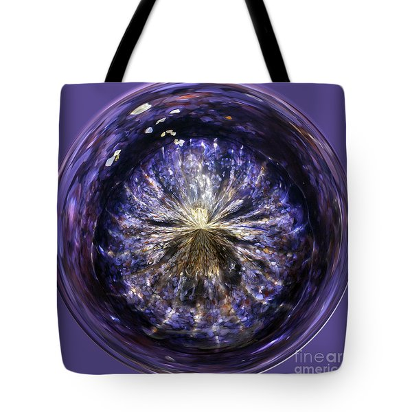 Blue Jelly Fish Orb Tote Bag by Terri Waters