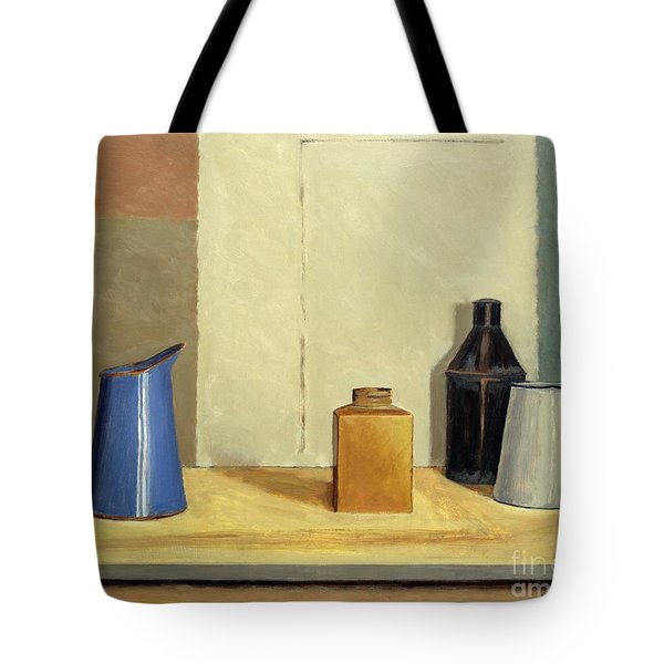 Blue Jug Alone Tote Bag by William Packer