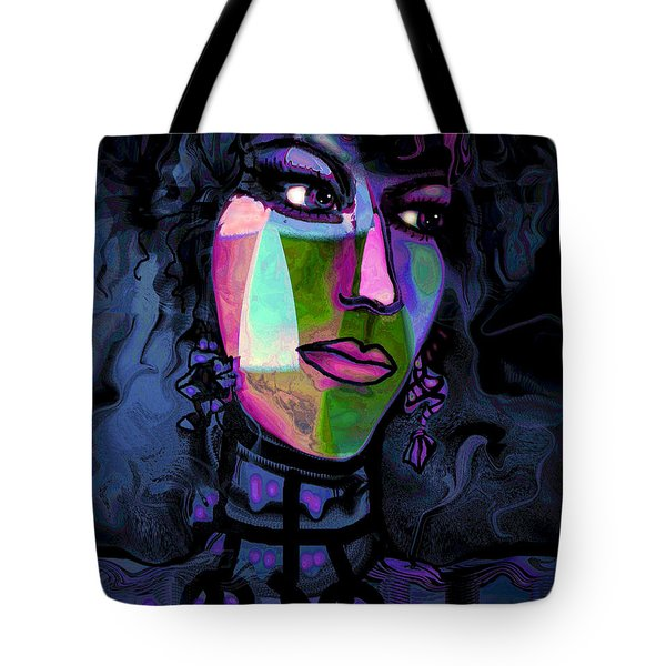 Blue Lady Tote Bag by Natalie Holland