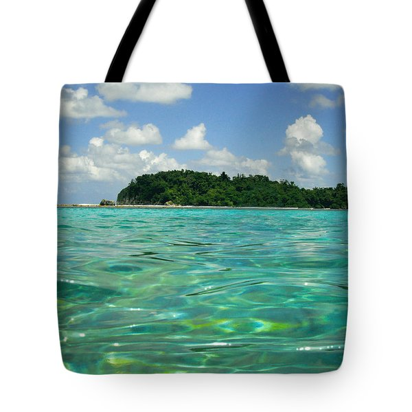 Blue Lagoon Tote Bag by Carey Chen