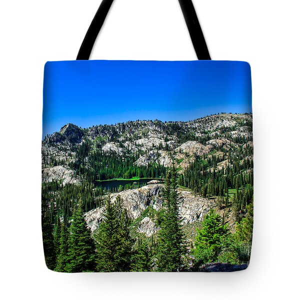Blue Lake Tote Bag by Robert Bales
