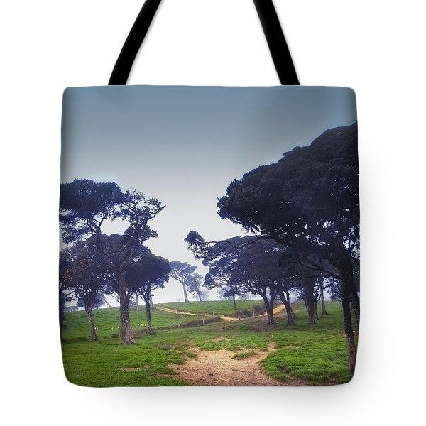 Blue Mist Silence. Sri Lanka Tote Bag by Jenny Rainbow