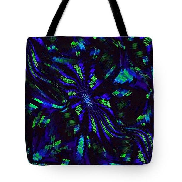 Blue Monday Tote Bag by Alec Drake