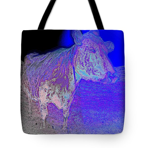 blue mooh Tote Bag by Hilde Widerberg