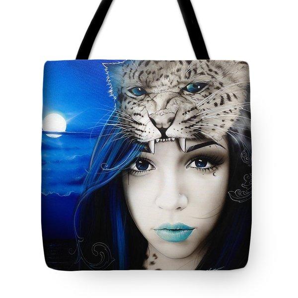 'Blue Moon' Tote Bag by Christian Chapman Art