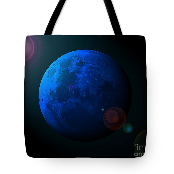 Blue Moon Digital Art Tote Bag by Al Powell Photography USA