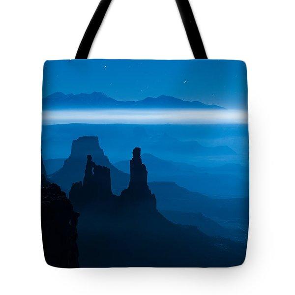 Blue Moon Mesa Tote Bag by Dustin  LeFevre