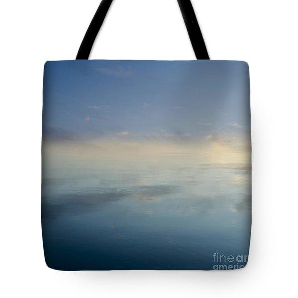 Blue Morning At Glendale Tote Bag by David Gordon