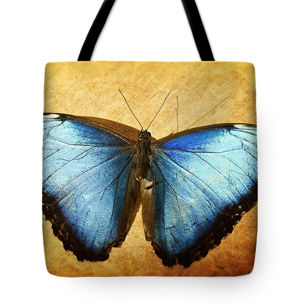 Blue Morpho Butterfly  Tote Bag by Saija  Lehtonen