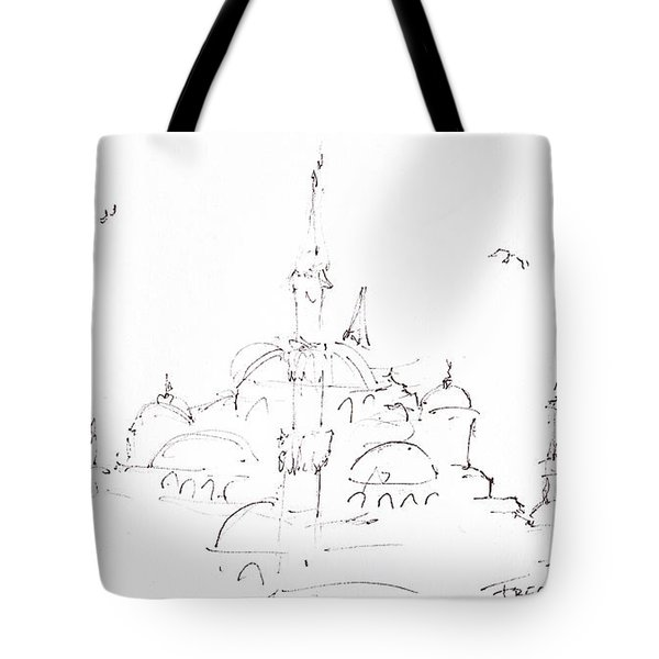 Blue Mosque Tote Bag by Valerie Freeman