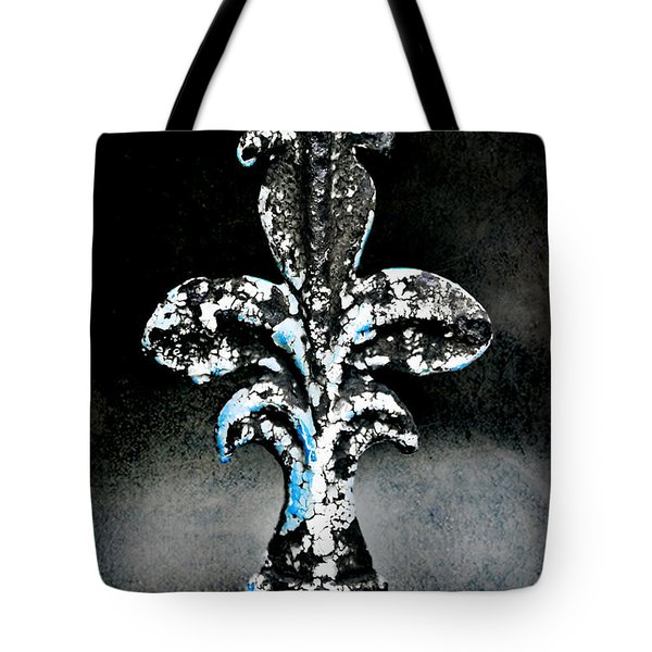 Blue On Black Tote Bag by Scott Pellegrin