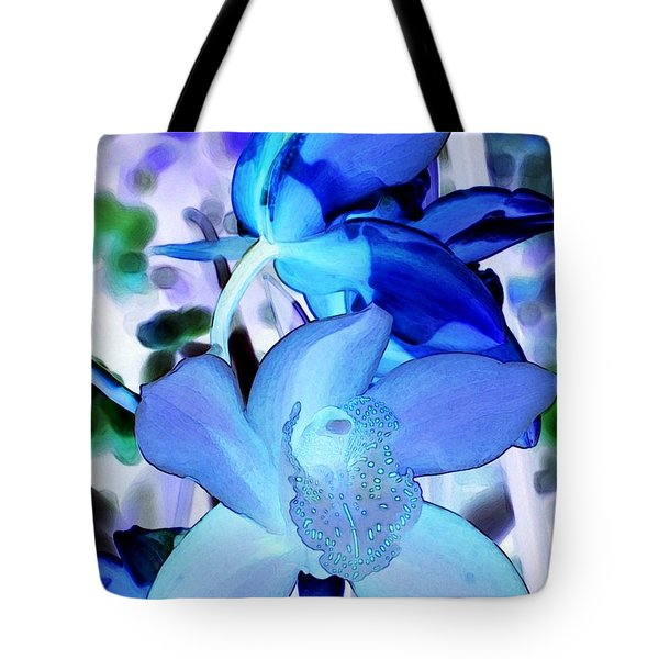 Blue Orchids Tote Bag by Kathleen Struckle