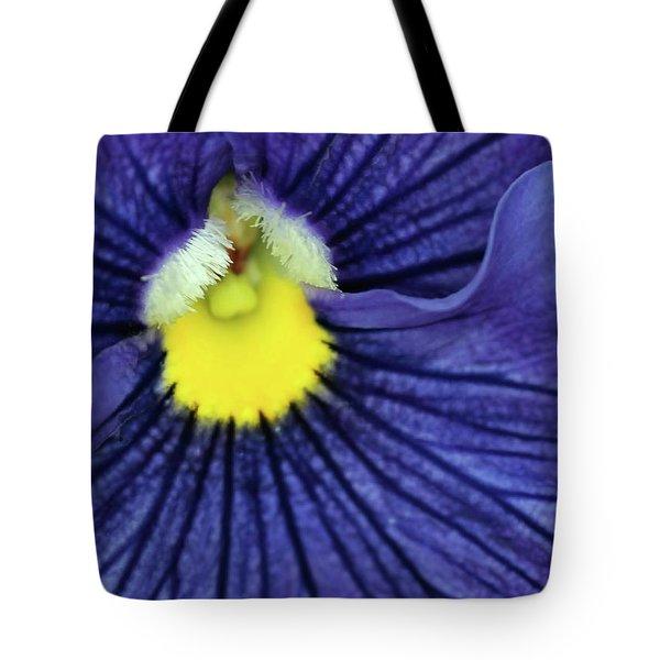 Blue Pansy Tote Bag by Sabrina L Ryan
