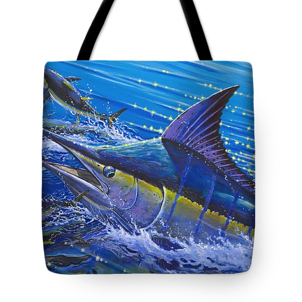 Blue Persuader  Tote Bag by Carey Chen