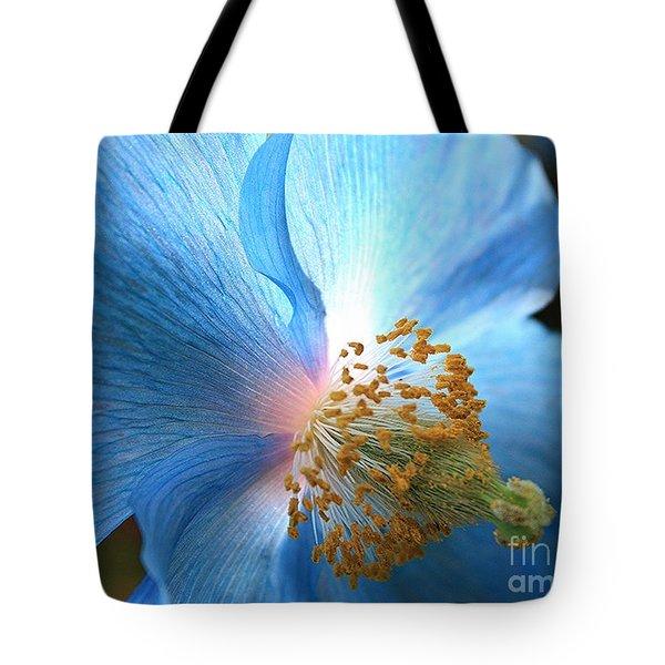 Blue Poppy Tote Bag by Carol Groenen