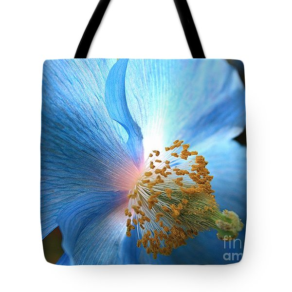 Blue Poppy Tote Bag by Carol Groenen