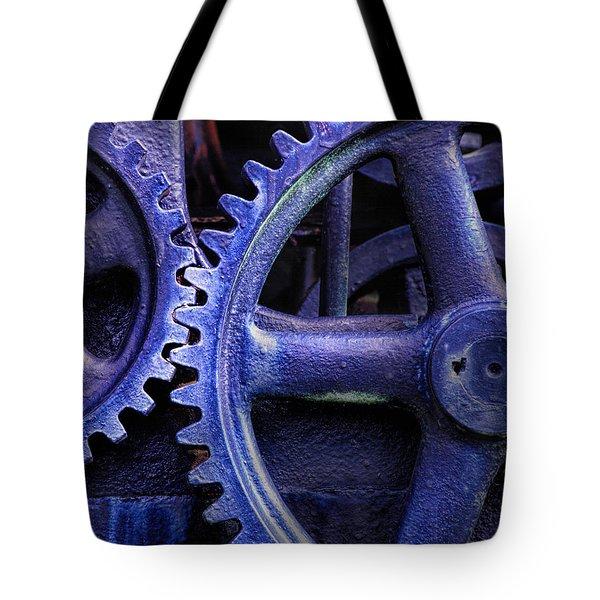 Blue Power Tote Bag by David and Carol Kelly