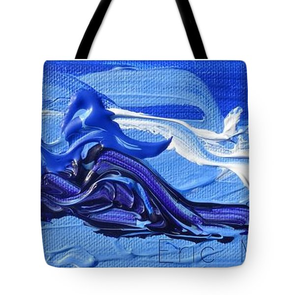 Blue Purple  Abstract Tote Bag by Eric  Schiabor