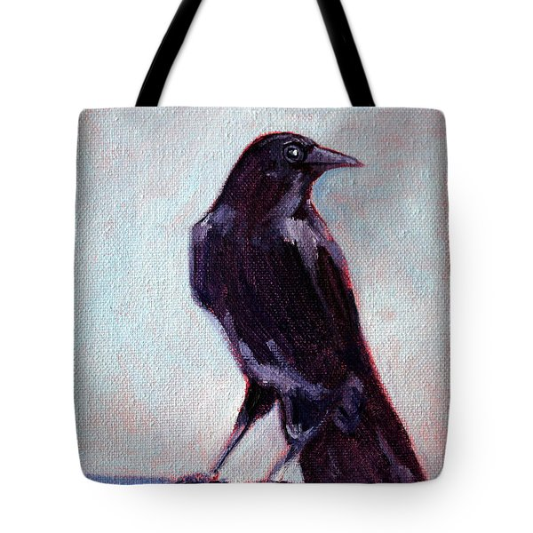 Blue Raven Tote Bag by Nancy Merkle