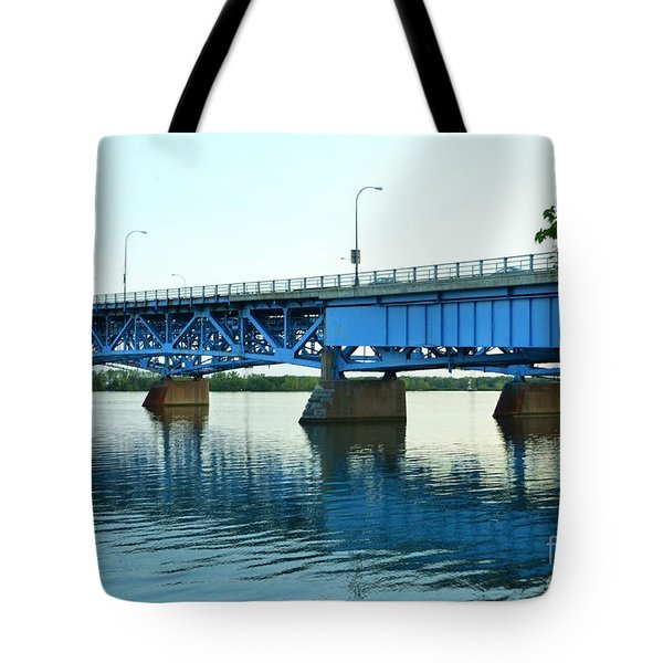 Blue Reflections Tote Bag by Kathleen Struckle