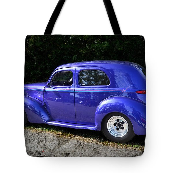 Blue Restored Willy Car Tote Bag by Luther   Fine Art