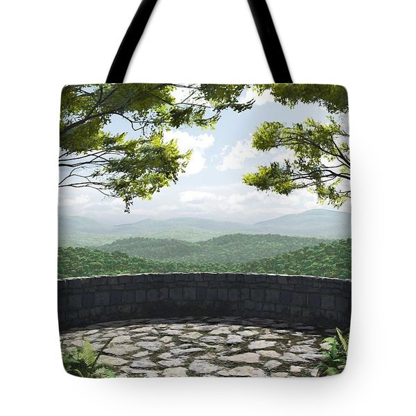 Blue Ridge Tote Bag by Cynthia Decker