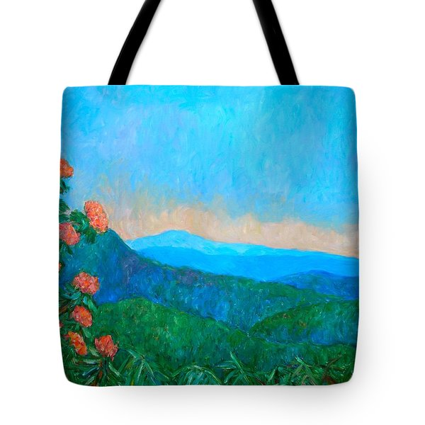 Blue Ridge Morning Tote Bag by Kendall Kessler